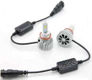 T5 LEDのヘッドライト車のアクセサリT5三カラーLEDヘッドライトの球根56W 7600lmはカラー二倍になる