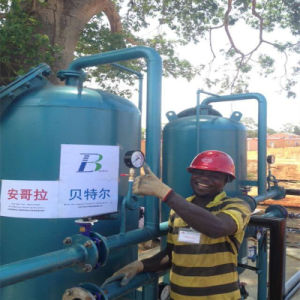 Filtro de carbono activado para a impressão de tingimento e reutilização de águas residuais