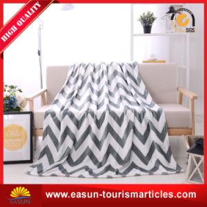 Одеяло 100% ватки фланели полиэфира напечатанное таможней для промотирования