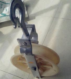 Polias de pendurar cabo/ rolo de cabo do gancho da polia de Nylon