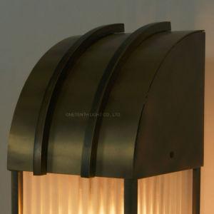 Acabamento de cobre de latão sombra interior em vidro e metal Lanterna candeeiro de mesa