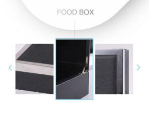Delicada piel sintética de PVC negro Caja de Alimentos