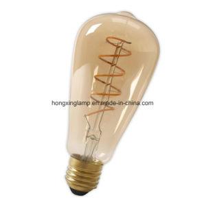 Bulbo espiral St64 do vintage do filamento do diodo emissor de luz