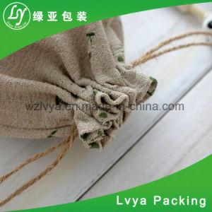 2018 Elegante diseño personalizado reciclar el 100% orgánico pequeño lienzo de algodón Bolsa Monedero Drawstring