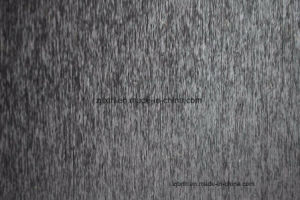 Negro liso tejido chenilla sofá (Fürth31118)