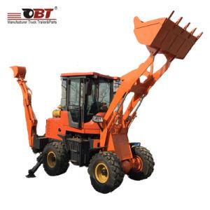 3700kg de voorBackhoe van het Graafwerktuig Tractor van de Lader met Wielen