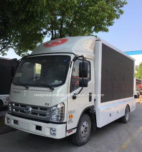 4X2 LED de Foton camión de la publicidad móvil de 5 toneladas condujo el vehículo