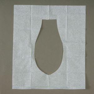 Tampa de assento descartável do toalete de Flushable do papel de tampa do assento do toalete do bloco do curso