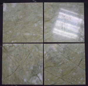 De natuurlijke Verlichte Plak van de Steen/Laminaat/de Groene Marmeren Tegel van Bullnose Ming Verde voor de Decoratie van het Huis