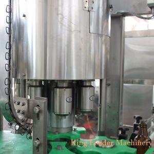충분히 중국 자동적인 유리병 맥주 크라운 덮개를 가진 액체 병에 넣는 충전물 기계