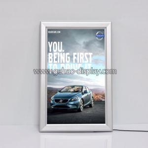 アルミニウムフレームLEDのライトボックス表示によってバックライトを当てられる広告ポスターフレーム