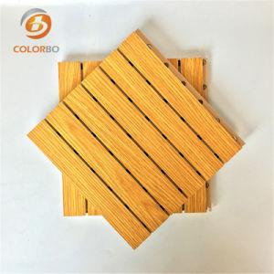 Cine/estadio cubierto de decoración de madera de madera ranurado panel acústico