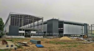 Schöne industrielle Bauunternehmen-Stahlrahmen-Speicher-vorfabrizierthalle
