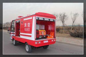 Caminhão de incêndio elétrica com 2 Pessoas