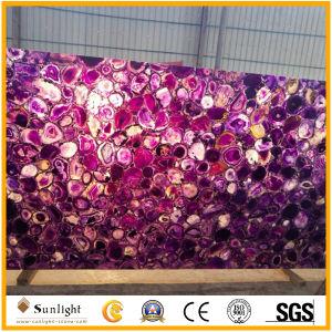 Grade naturelles une gemme translucide Agate dalles pour salle de bains Mur intérieur