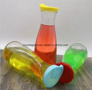 1L de Fles van de Melk van het Glas van het Sap van het water met Plastic GLB