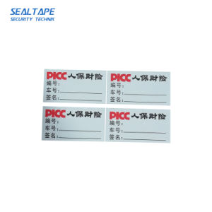 De ultra Vernietigbare Etiketten van het Karton van de Stickers van de Geschikt om gedrukt te worden Band van het Embleem van de Kleur Breekbare Zelfklevende