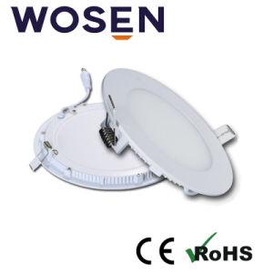No hay espacio oscuro de la luz de panel LED de 10mm 9W aprobado por UL