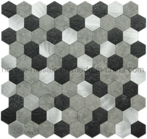 Shell van de Schil en van de Stok de Zelfklevende Tegel van uitstekende kwaliteit van het Mozaïek van de Kunst voor Keuken Backsplash