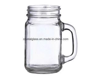 Normaler rustikaler Land-Maurer-Glas-Becher