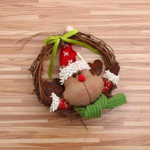 Ghirlanda/corona artificiali promozionali di natale della bambola del rattan di nuovo stile