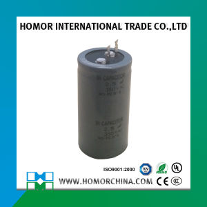 Condensatore dello schema elettrico del ventilatore di soffitto con la latta del metallo