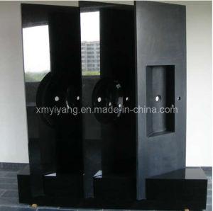 De absolute Zwarte Bovenkant van de Ijdelheid van de Badkamers van het Graniet, Countertop van de Keuken