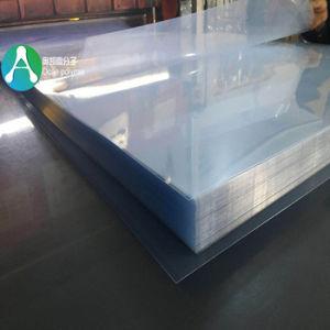 3*6 pieds feuille transparente en PVC rigide avec deux PE Film protecteur pour l'impression et découpe
