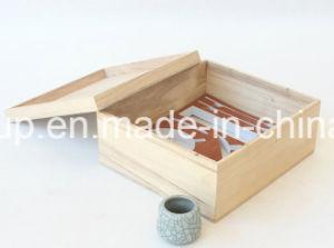 Grande contenitore alla moda di legno naturale di legno di memoria di formato