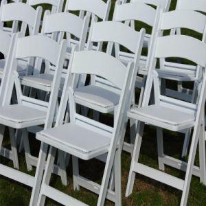 결혼식을%s 백색 옥외 정원 플라스틱 의자