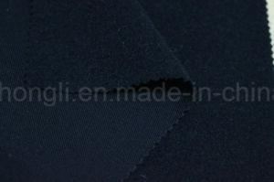 Poli/Rayon tecido sarjado, unilateral, escovado 220gsm