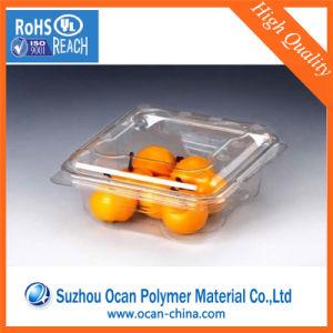 China Fabricante de plástico transparente de grado alimentario & Smooth Hoja PVC película para la formación de vacío