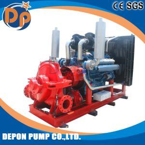 De diesel Gedreven Gespleten Pomp van de Brand van de Pomp van het Vuurwater van het Geval