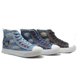 Lienzo caliente Denim mujeres estudiantes Fations Casual zapatos