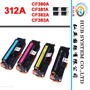 新しいプリンタートナーカートリッジHP 312A (CF380A、CF381A、CF382A、CF383A)