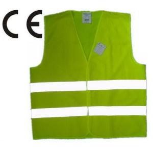 Agujeros de seguridad de alta calidad de testigo el tráfico de chaleco reflectante con CE