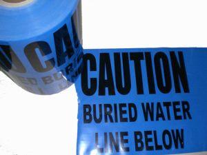 Al Blauwe Kleur van de Band van de Waarschuwing van de Folie de Ondergrondse Opspoorbare