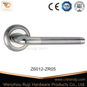 Zink-Legierungs-Tür-Möbel-Verriegelungsgriff mit Satin-Nickel Farbe (Z6011-ZR05)