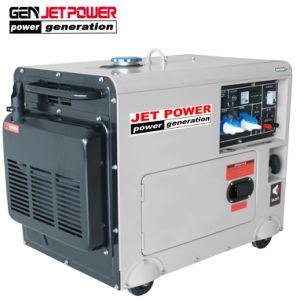 저잡음 4.5kw 5kw 침묵하는 휴대용 공기에 의하여 냉각되는 디젤 엔진 발전기