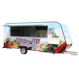 Kebab mobile Nahrungsmittelschlußteil-Karre mit Küche-Gerät
