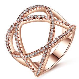 925 de zilveren Echte Juwelen van de Ring van CZ van het Zirkoon van de Manier