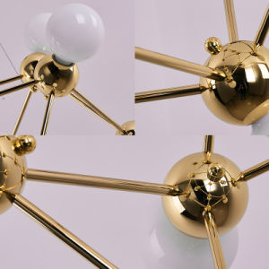 4 luzes penduradas Ouro Moderno pingente de luz para iluminação ou residencial ou quarto de hotel