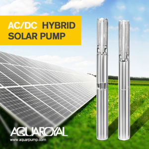 Hybrider Solarmaximaler maximaler Kopf der pumpen-4sp3/11 des Fluss-6.6m3 112m Selbst-AC/DC