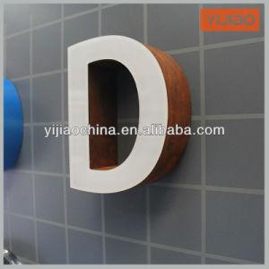 Металлический канал письмо подписать светодиод горит сигнальная лампа переднего без облицовки с