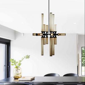 Moderner Entwurfs Leuchter Beleuchtung, Die Hängende Lampe Mit  Kognak Glasfarbtönen Für Wohnzimmer
