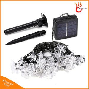 50 Flor de durazno LED lámpara solar LED de encendido de luces de hadas guirnaldas Gardenlight Cadena para el exterior