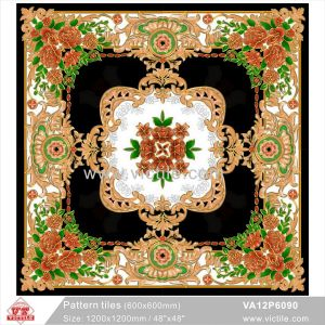 壮大なBuilding Material Carpet Flower Puzzle Pattern Floor Tile (VA12P6089、1200X1200mm)