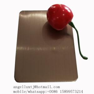 ヘアライン終わりを用いる安いSs201 304 PVDローズの金カラーステンレス鋼シート