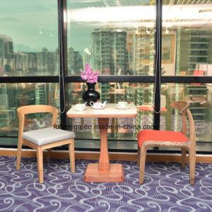Muebles de madera maciza silla de mesa para cinco estrellas