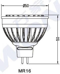 ETL&cETLの景色の照明のためのDimmable 5W 6W 7W LED MR16の屋外のスポットライト